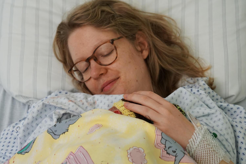 Babyglück kurz nach der Geburt