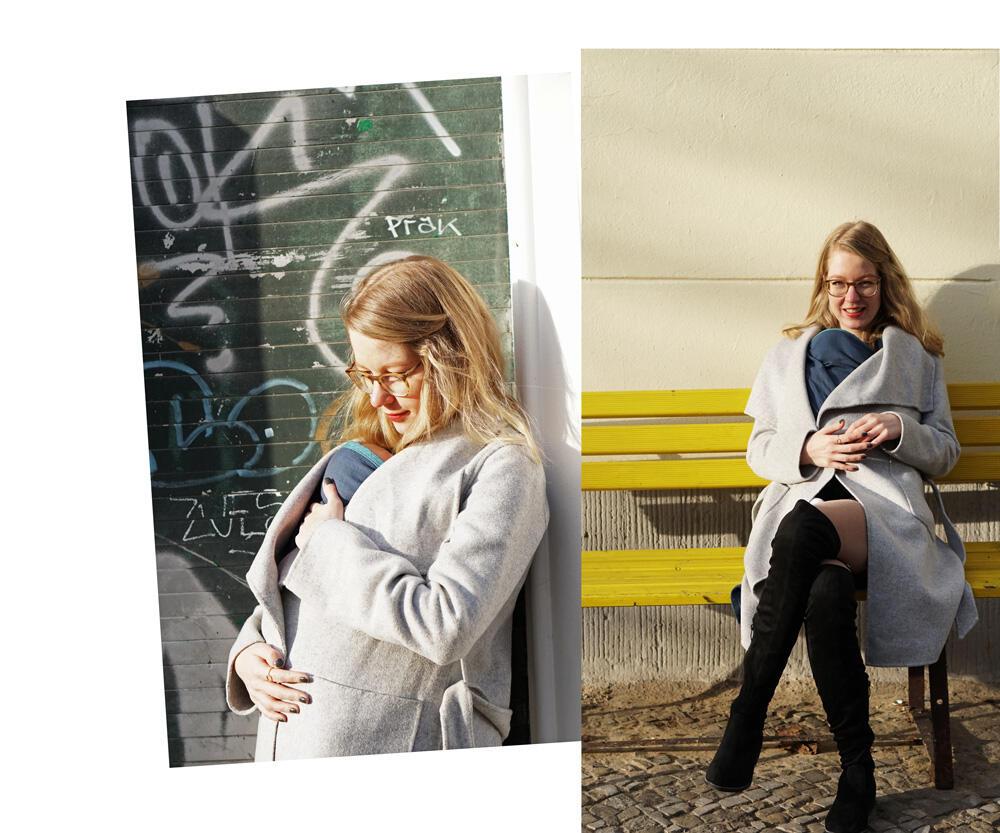 Winterspaziergang in Berlin Prenzlauer Berg mit Baby