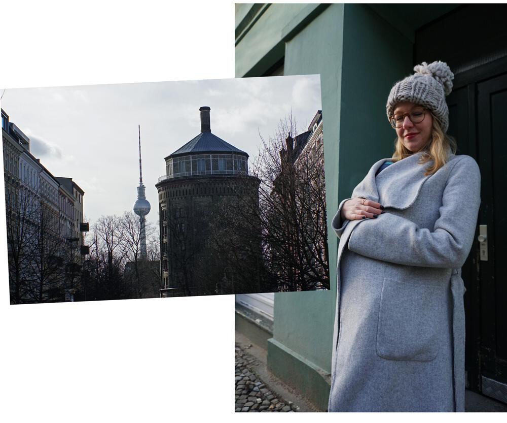Spaziergang Berlin Prenzlauer Berg mit Baby am Wasserturm