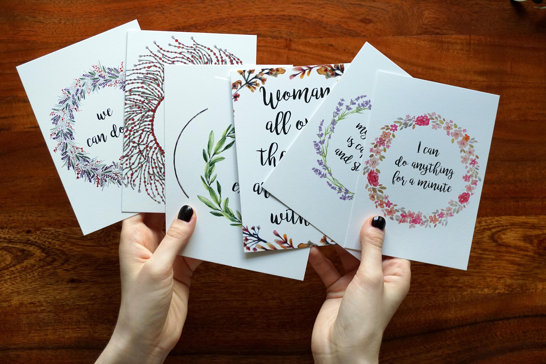 Geburtsvorbereitung Mantra Meditation Postkarte Geschenk