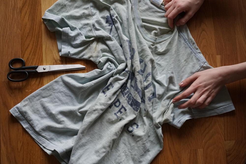 DIY Stillkette und Textilgarn aus altem T-Shirt
