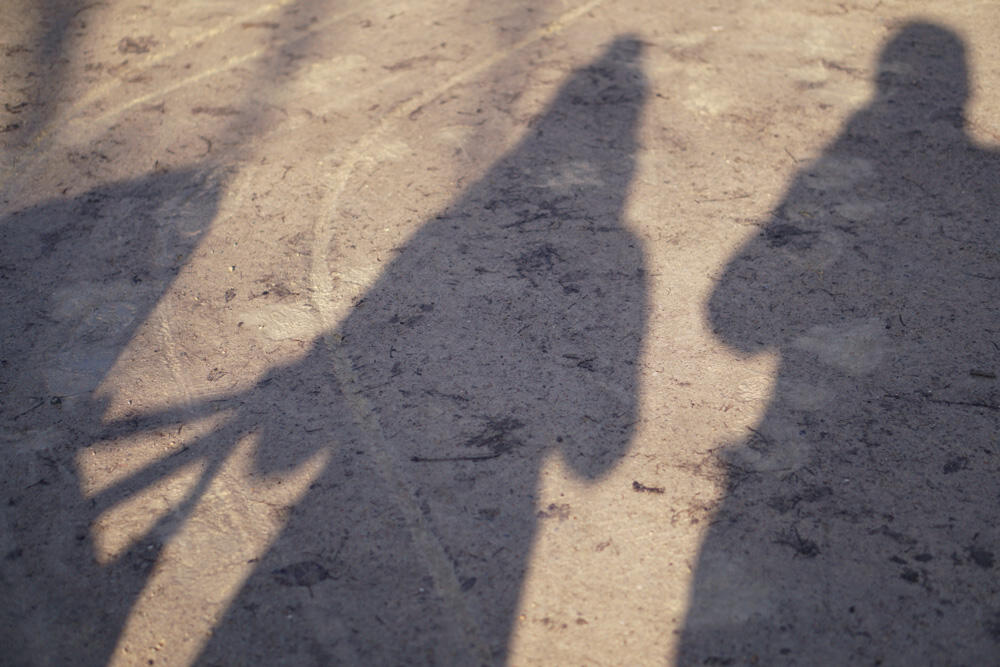 Familienfoto Schatten