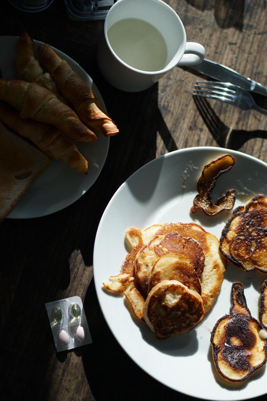 Frühstück Pancakes Croissant