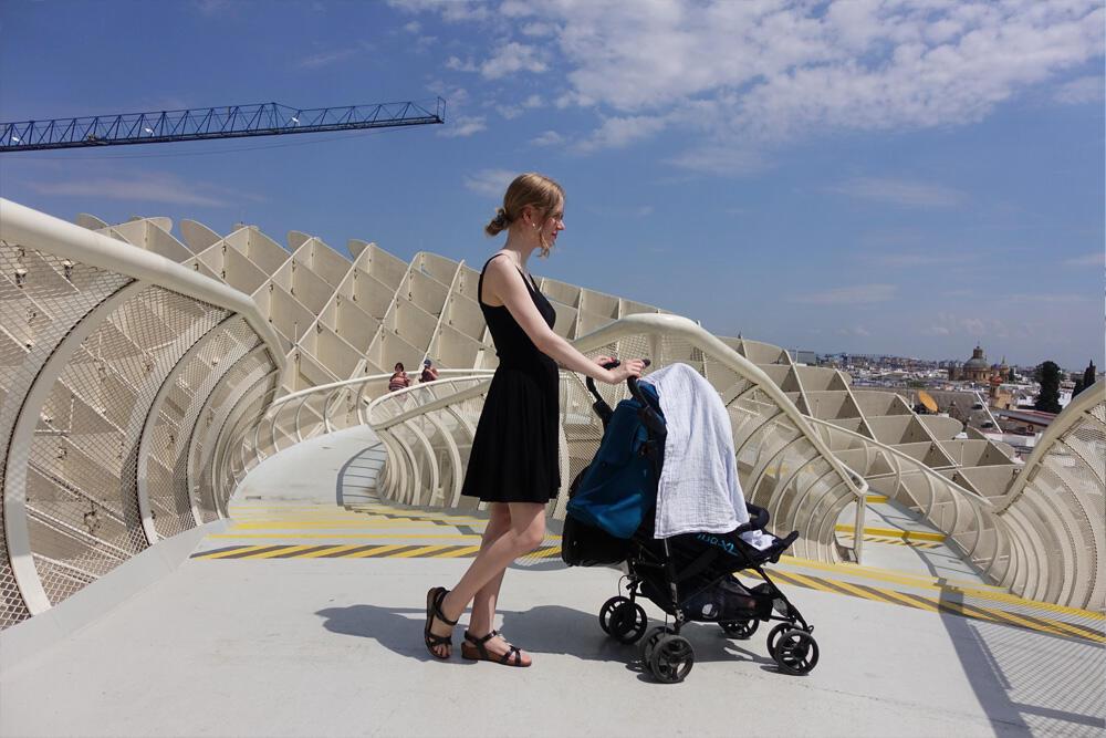 Sevilla Spanien Andalusien Urlaub mit Baby Metropol Parasol