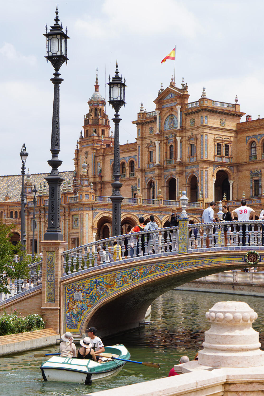 Sevilla Spanien Andalusien Urlaub mit Baby Plaza de Espana
