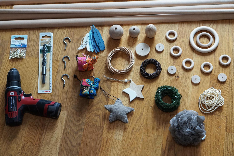 Holzspielzeug Babygym Spielbogen DIY Bastelladen Holzringe