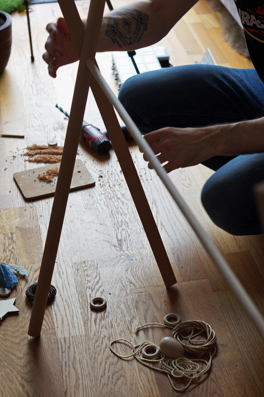 Babygym Spielbogen Baby DIY selber machen basteln