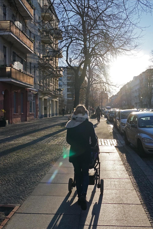 Arbeitsweg Kinderwagen Berlin
