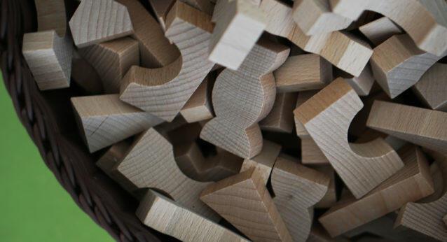 Kita-Eingewöhnung Bausteine Holzbausteine