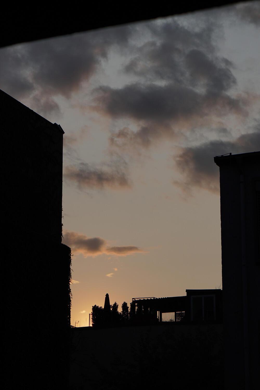 Himmel Berlin Sonnenuntergang Wolken