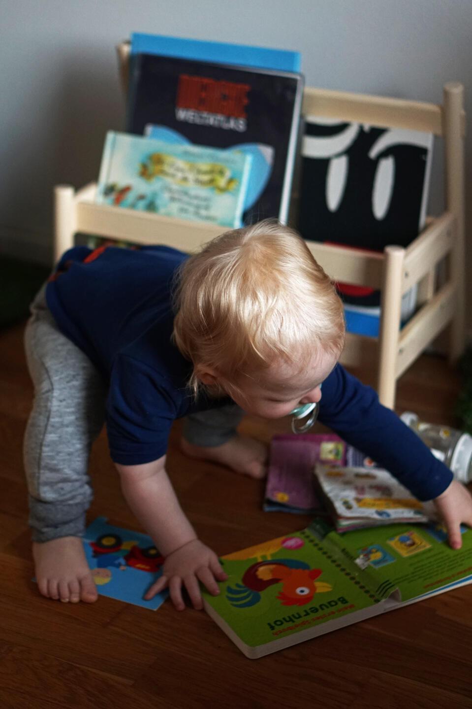 Kleinkind Bücher Bücherbank Flisat Ikea Kinderzimmer