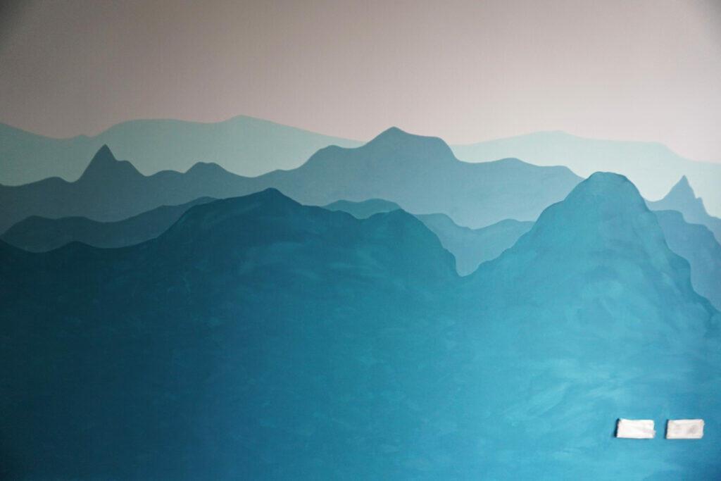 Kinderzimmerwand Kinderzimmer Wand Berge Blau Alpen