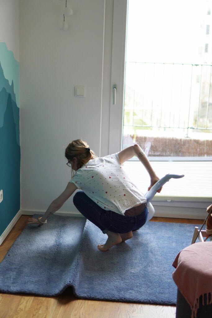DIY Kinderzimmer Wand streichen Sauber machen