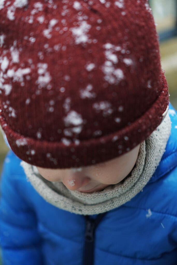 Mütze Schnee Kind