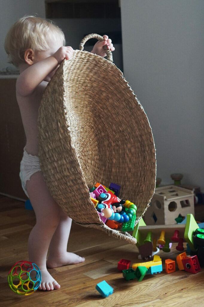 Kleinkind Spielzeug Korb Junge Windel Lego