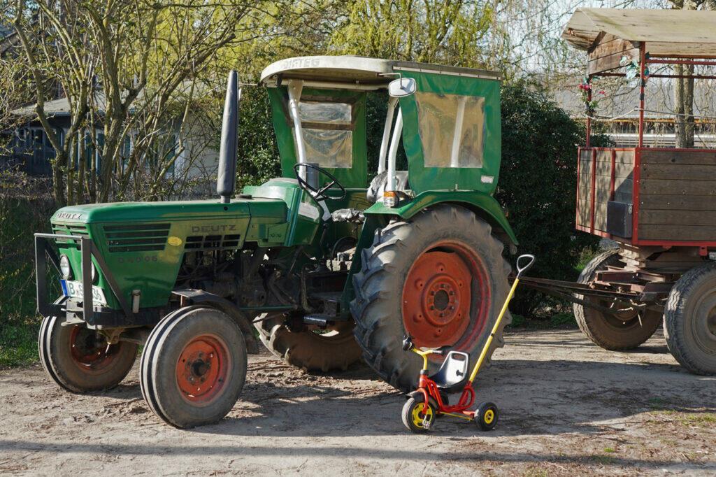 Traktor Berlin Dahlem Domäne Dreirad